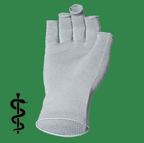 Silber Unterziehhandschuhe fingerlos