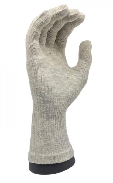 Silber Handschuhe 2 Paar extra lang