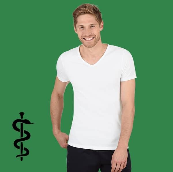 Silber Shirt V-Ausschnitt